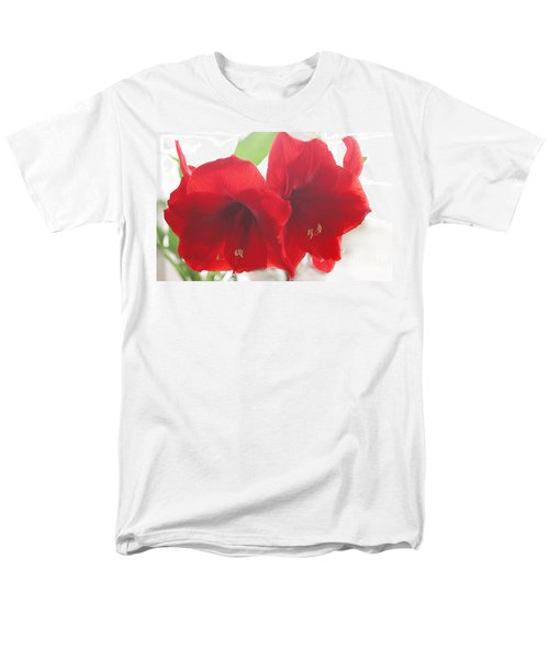 Amaryllis Men's T-Shirt  (Regular Fit) by Rebecca Harman