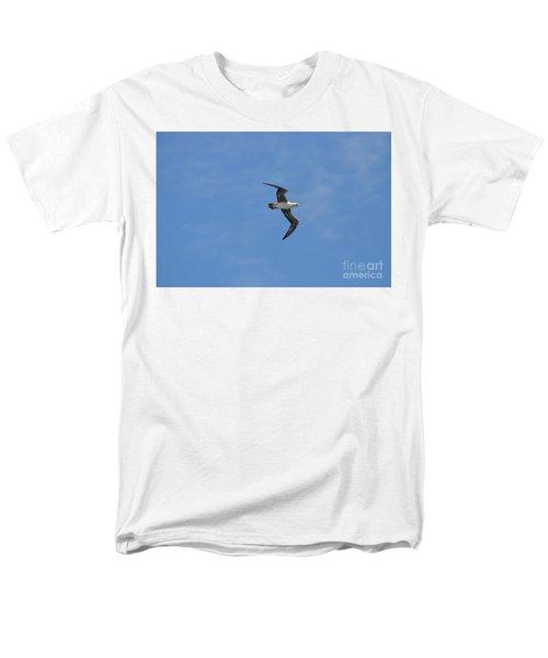Men's T-Shirt  (Regular Fit) featuring the digital art Red Footed Booby Bird 1 by Eva Kaufman