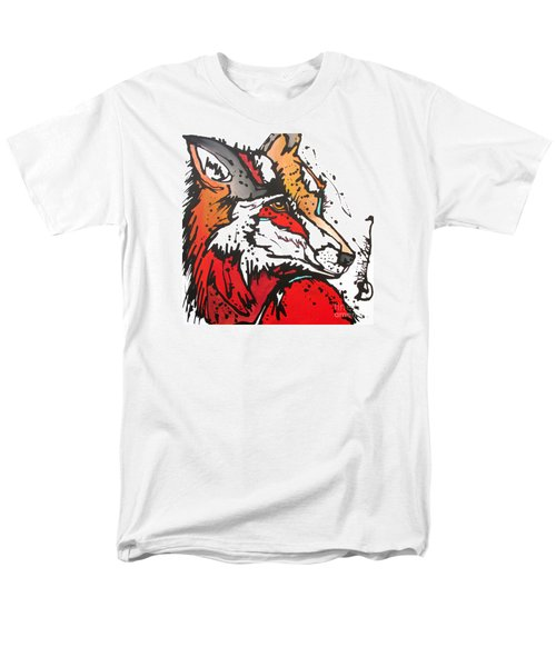 Red Fox Men's T-Shirt  (Regular Fit) by Nicole Gaitan