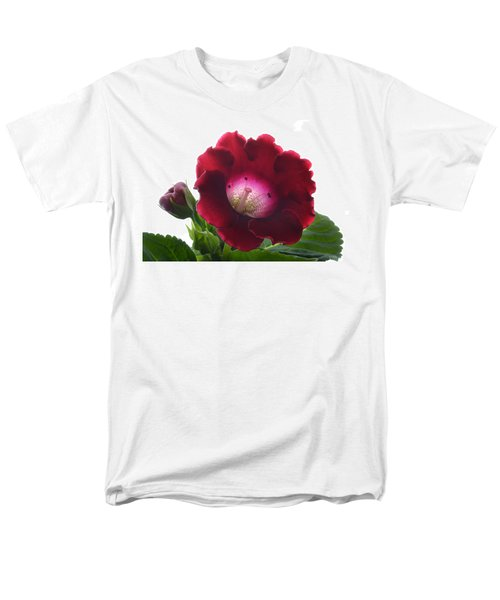 Red Gloxinia. Men's T-Shirt  (Regular Fit) by Terence Davis
