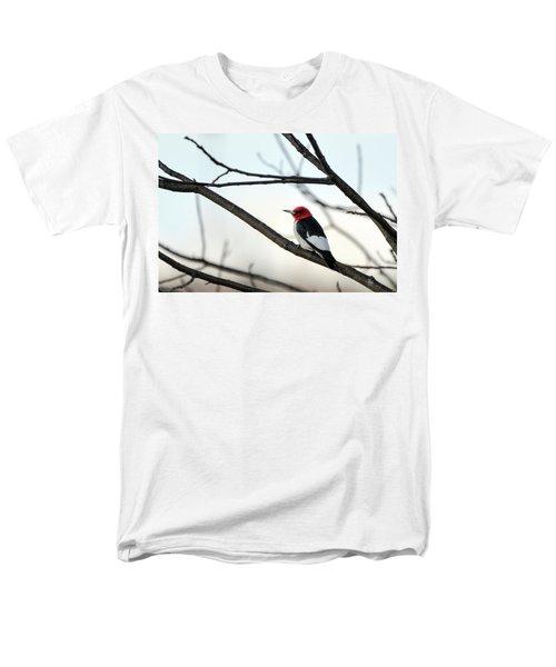 Red-headed Woodpecker Men's T-Shirt  (Regular Fit)