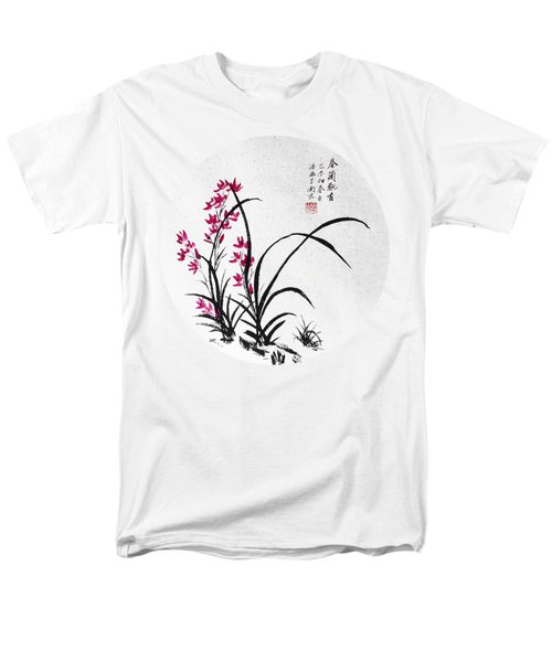 Red Iris - Round Men's T-Shirt  (Regular Fit) by Birgit Moldenhauer