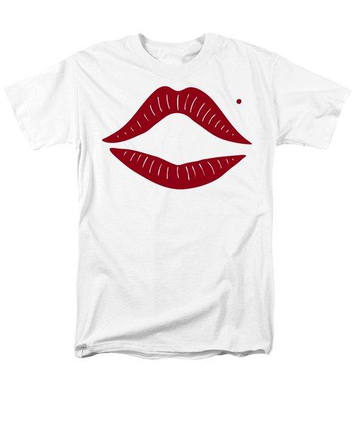 Red Lips Men's T-Shirt  (Regular Fit) by Frank Tschakert