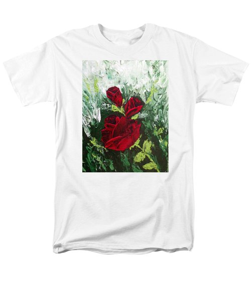 Red Roses In Bloom Men's T-Shirt  (Regular Fit) by Roxy Rich