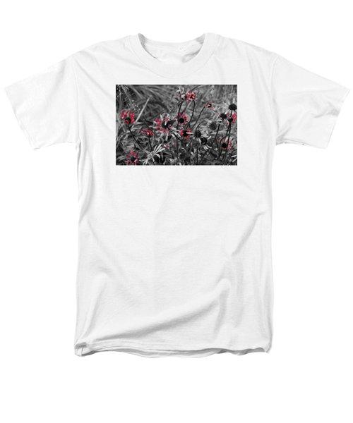 Red Streaks Men's T-Shirt  (Regular Fit) by Deborah  Crew-Johnson