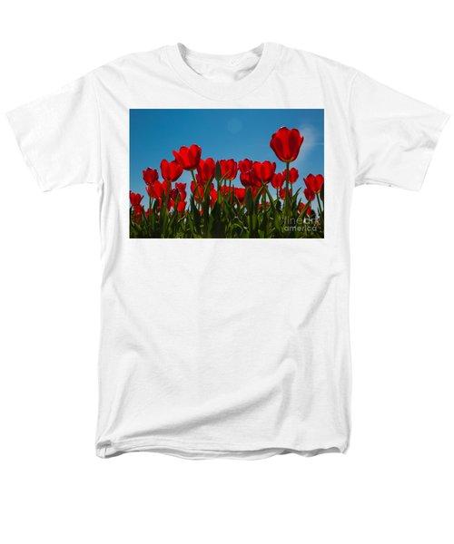 Red Tulips Men's T-Shirt  (Regular Fit) by John Roberts