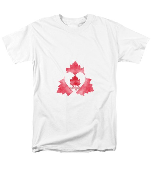 Red White And Canadian Men's T-Shirt  (Regular Fit) by Kathleen Sartoris