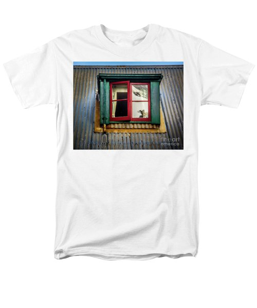 Men's T-Shirt  (Regular Fit) featuring the photograph Red Windows by Perry Webster