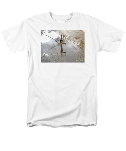 Puddle Reflections  Men's T-Shirt  (Regular Fit) by Sandra Church