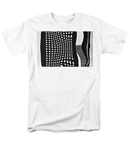 Men's T-Shirt  (Regular Fit) featuring the photograph Reflection On 42nd Street 2 Grayscale by Sarah Loft