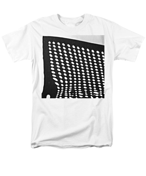 Men's T-Shirt  (Regular Fit) featuring the photograph Reflection On 42nd Street 3 Grayscale by Sarah Loft