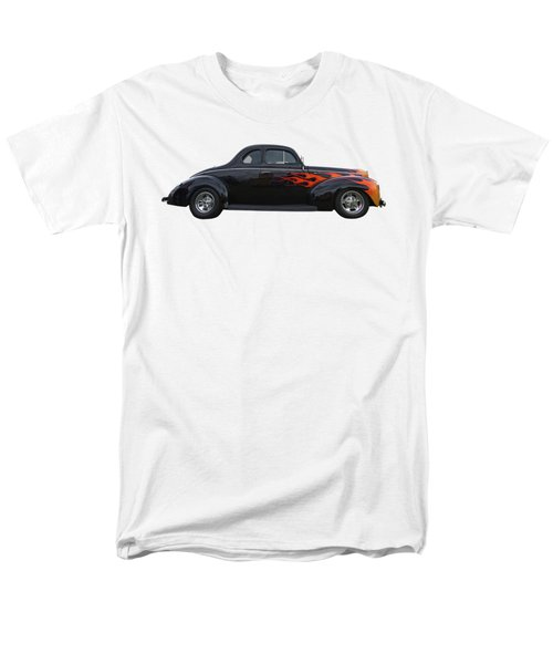 Men's T-Shirt  (Regular Fit) featuring the photograph Reflections Of A 1940 Ford Deluxe Hot Rod With Flames by Gill Billington