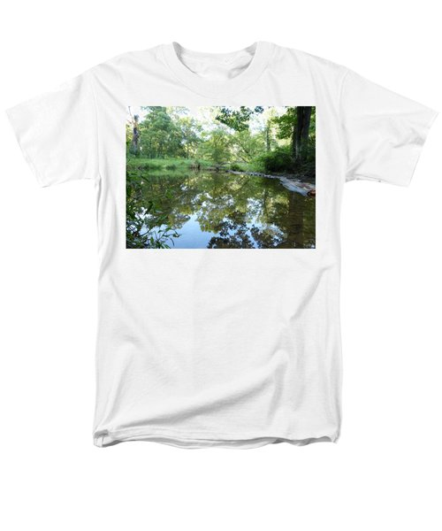 Men's T-Shirt  (Regular Fit) featuring the photograph Reflections Of Beetree Run by Donald C Morgan