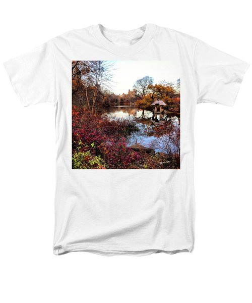 Men's T-Shirt  (Regular Fit) featuring the photograph Reflections On A Winter Day - Central Park by Madeline Ellis