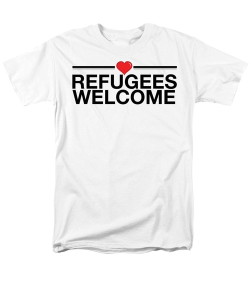 Refugees Wecome Men's T-Shirt  (Regular Fit) by Greg Slocum