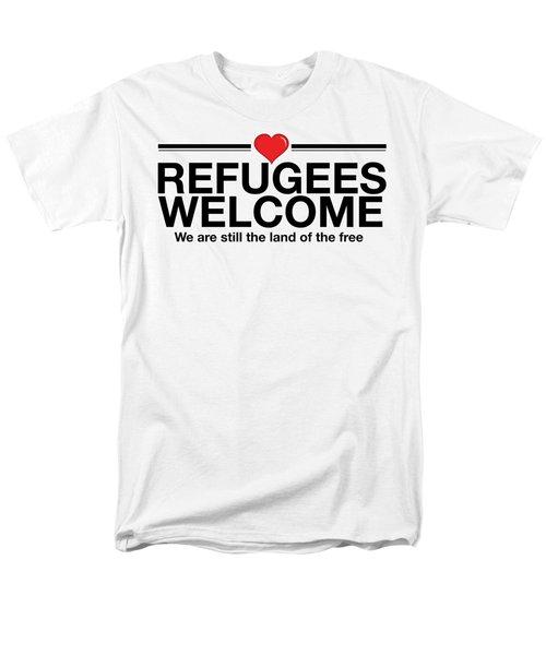 Refugees Welcome Men's T-Shirt  (Regular Fit) by Greg Slocum