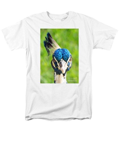 Regal Peacock Men's T-Shirt  (Regular Fit) by Audrey Van Tassell