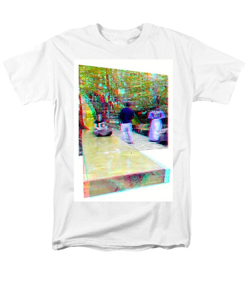 Men's T-Shirt  (Regular Fit) featuring the photograph Renaissance Slide - Red-cyan 3d Glasses Required by Brian Wallace