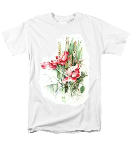 Men's T-Shirt  (Regular Fit) featuring the painting Residents Of Green Fields by Anna Ewa Miarczynska