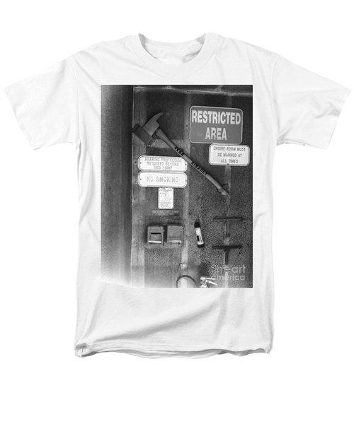 Restricted Area Men's T-Shirt  (Regular Fit) by WaLdEmAr BoRrErO