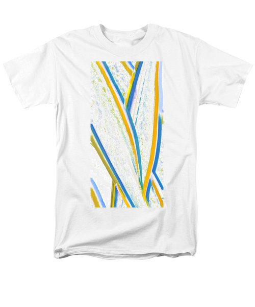 Men's T-Shirt  (Regular Fit) featuring the digital art Rhapsody In Leaves No 3 by Ben and Raisa Gertsberg