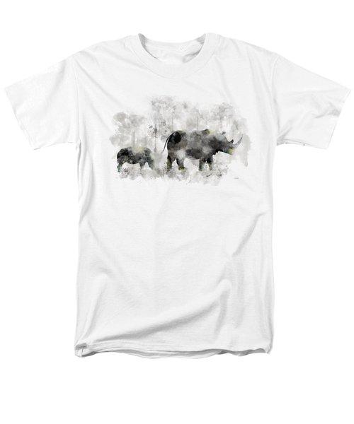 Rhinoceros And Baby Men's T-Shirt  (Regular Fit) by Marlene Watson