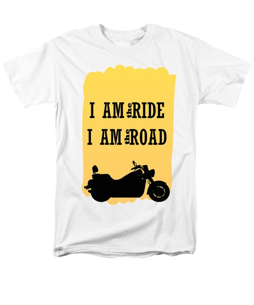 Rider Is The Ride Is The Road Men's T-Shirt  (Regular Fit) by Keshava Shukla