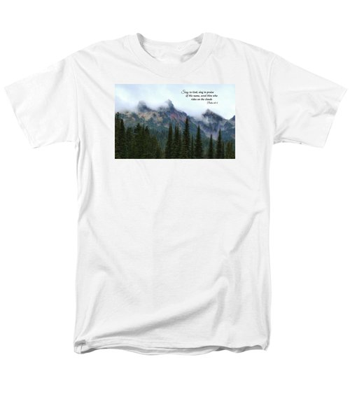 Men's T-Shirt  (Regular Fit) featuring the photograph Rides On The Clouds by Lynn Hopwood