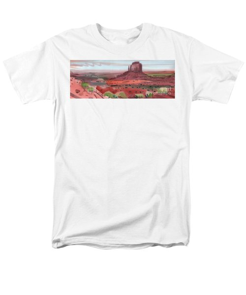 Right Mitten Panorama Men's T-Shirt  (Regular Fit) by Donald Maier