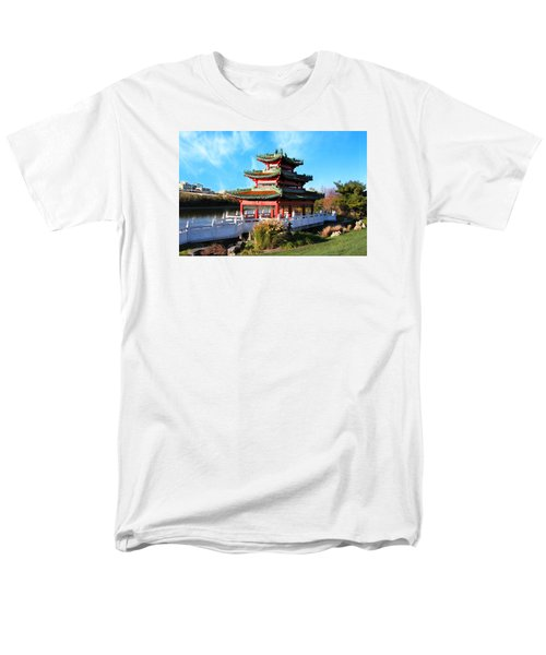 Robert D. Ray Asian Garden Men's T-Shirt  (Regular Fit) by Kathy M Krause