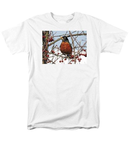 Robin In Winter Men's T-Shirt  (Regular Fit) by Marcia Lee Jones