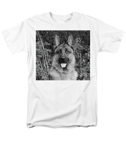 Men's T-Shirt  (Regular Fit) featuring the photograph Rocco - Bw by Sandy Keeton