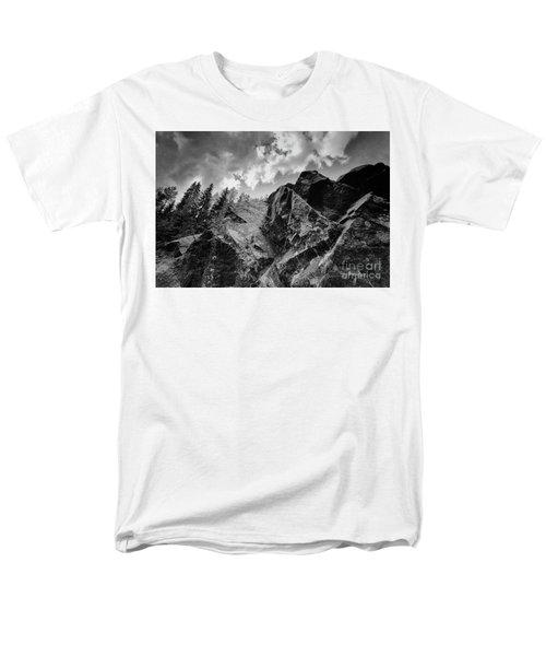Rock #9542 Bw Version Men's T-Shirt  (Regular Fit) by Andrey Godyaykin