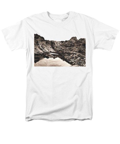 Rock - Sepia Men's T-Shirt  (Regular Fit) by Rebecca Harman