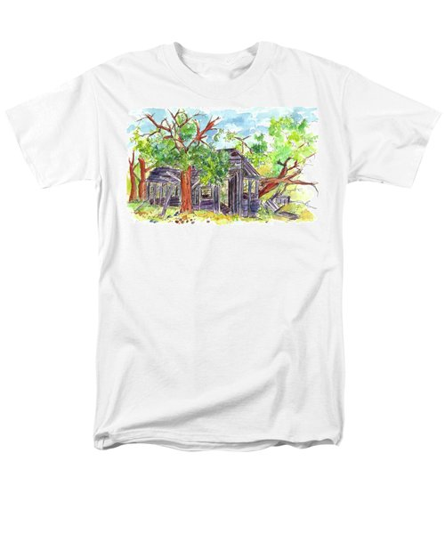 Men's T-Shirt  (Regular Fit) featuring the painting Rockland Cabin by Cathie Richardson