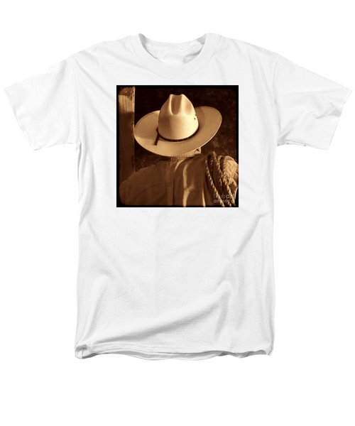 Rodeo Cowboy Men's T-Shirt  (Regular Fit) by American West Legend By Olivier Le Queinec