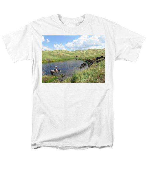 Rolling Hills Men's T-Shirt  (Regular Fit) by Diane Bohna