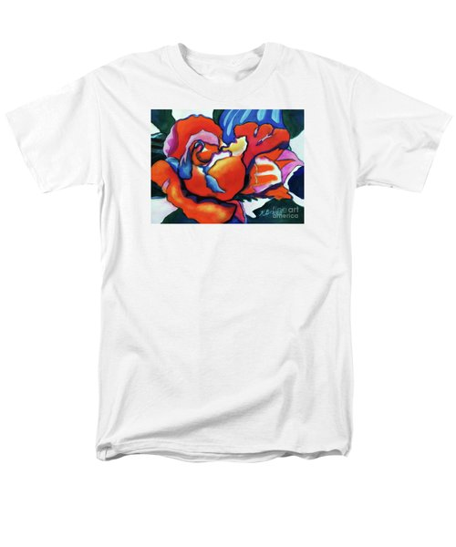 Men's T-Shirt  (Regular Fit) featuring the painting Rose In Outline by Kathy Braud