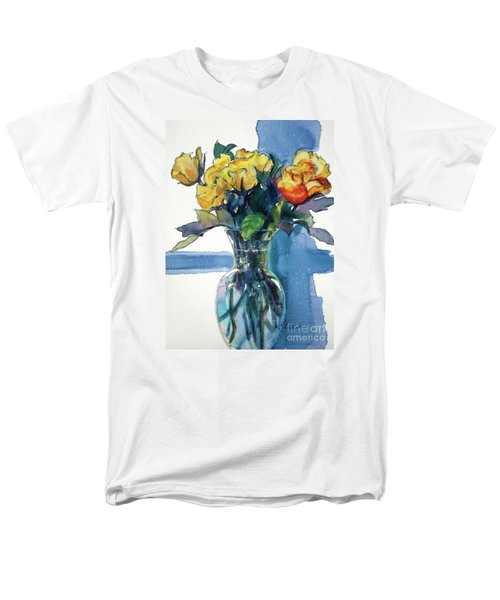 Roses In Vase Still Life I Men's T-Shirt  (Regular Fit) by Kathy Braud