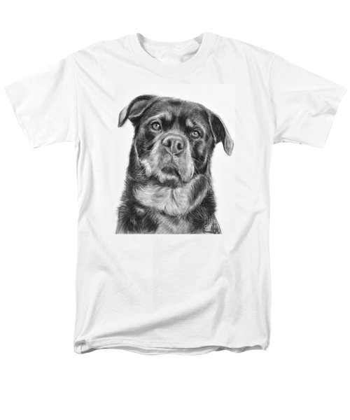 Rottweiler Drawing Titled Mama Men's T-Shirt  (Regular Fit) by Kate Sumners