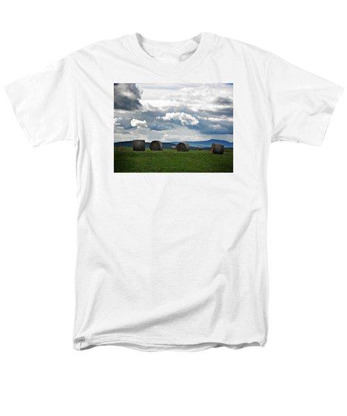Round Bales Under A Cloudy Sky Men's T-Shirt  (Regular Fit) by Joy Nichols