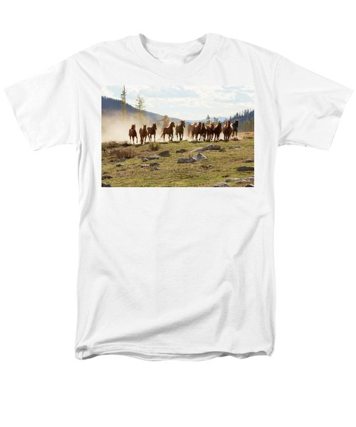 Men's T-Shirt  (Regular Fit) featuring the photograph Round Up by Sharon Jones