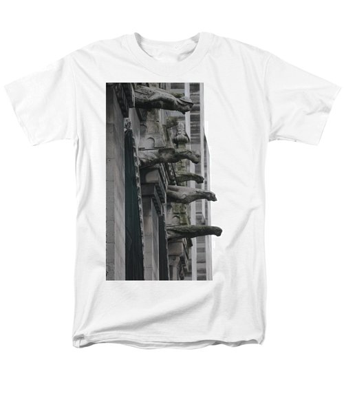 Men's T-Shirt  (Regular Fit) featuring the photograph Row Of Gargoyles by Christopher Kirby