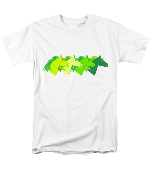 Running Horse Lime Men's T-Shirt  (Regular Fit) by Alexsan