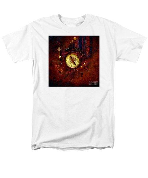 Men's T-Shirt  (Regular Fit) featuring the digital art Rusty Time Machine by Alexa Szlavics