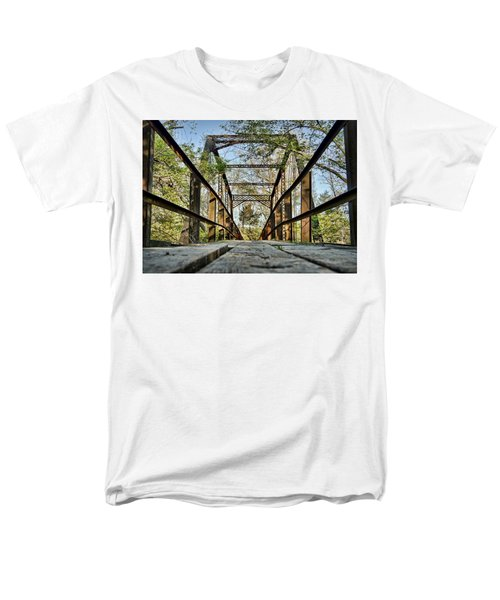 Englewood Bridge Men's T-Shirt  (Regular Fit) by Cricket Hackmann