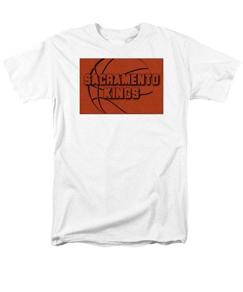 Sacramento Kings Leather Art Men's T-Shirt  (Regular Fit) by Joe Hamilton