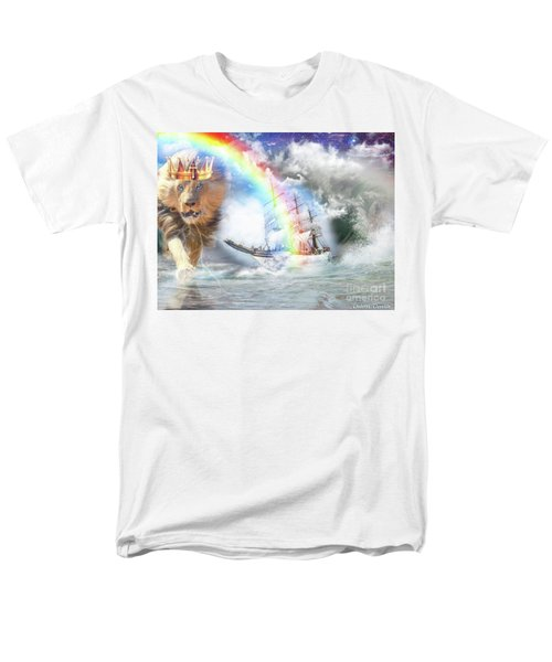 Men's T-Shirt  (Regular Fit) featuring the digital art Safe Harbor  by Dolores Develde