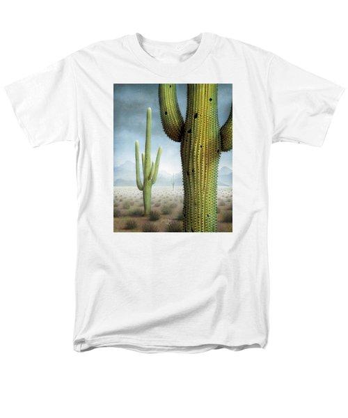 Saguaro Cactus Landscape Men's T-Shirt  (Regular Fit) by James Larkin