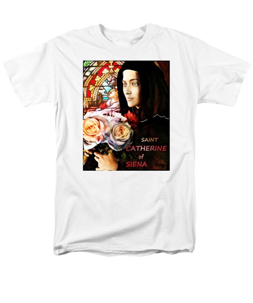 Men's T-Shirt  (Regular Fit) featuring the painting Saint Catherine by Suzanne Silvir